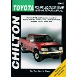 Toyota Pick-up Tacoma T100 Land Cruiser and 4Runner Chilton Repair Manual covering all models for 1989-96
