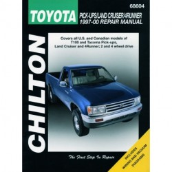 Toyota Pick-up T100 Tacoma Land Cruiser and 4Runner Chilton Repair Manual covering all models for 1997-00