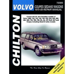 Volvo Coupes Sedans and Wagons for 1970-89 Chilton Repair Manual (See specific models covered)