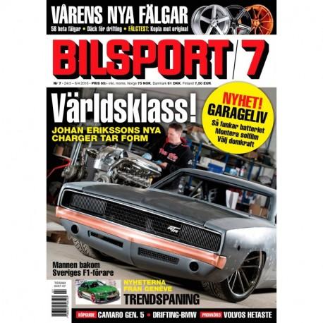 Bilsport nr 7 2016